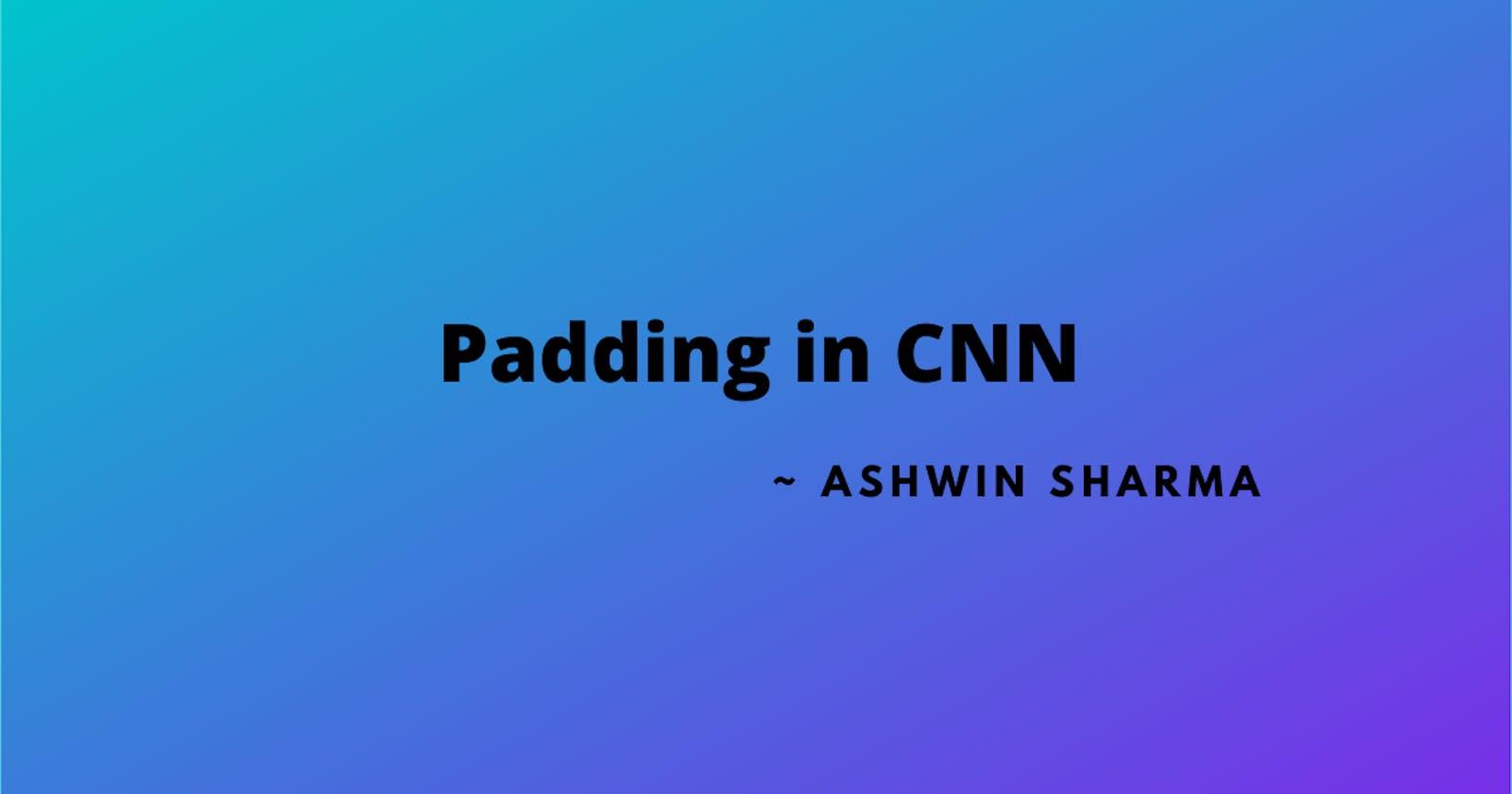 Padding in CNN