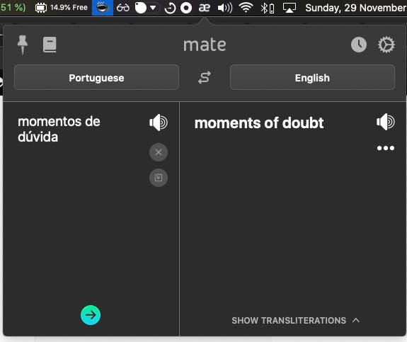 Mate translate app