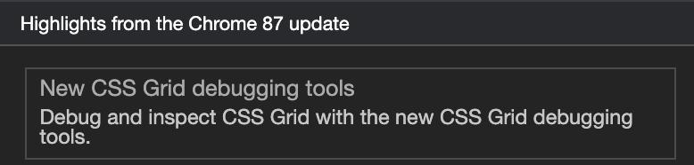 Chrome 87 CSS Grid