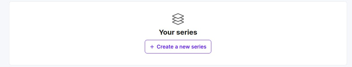 Create series button