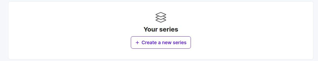 Create series button