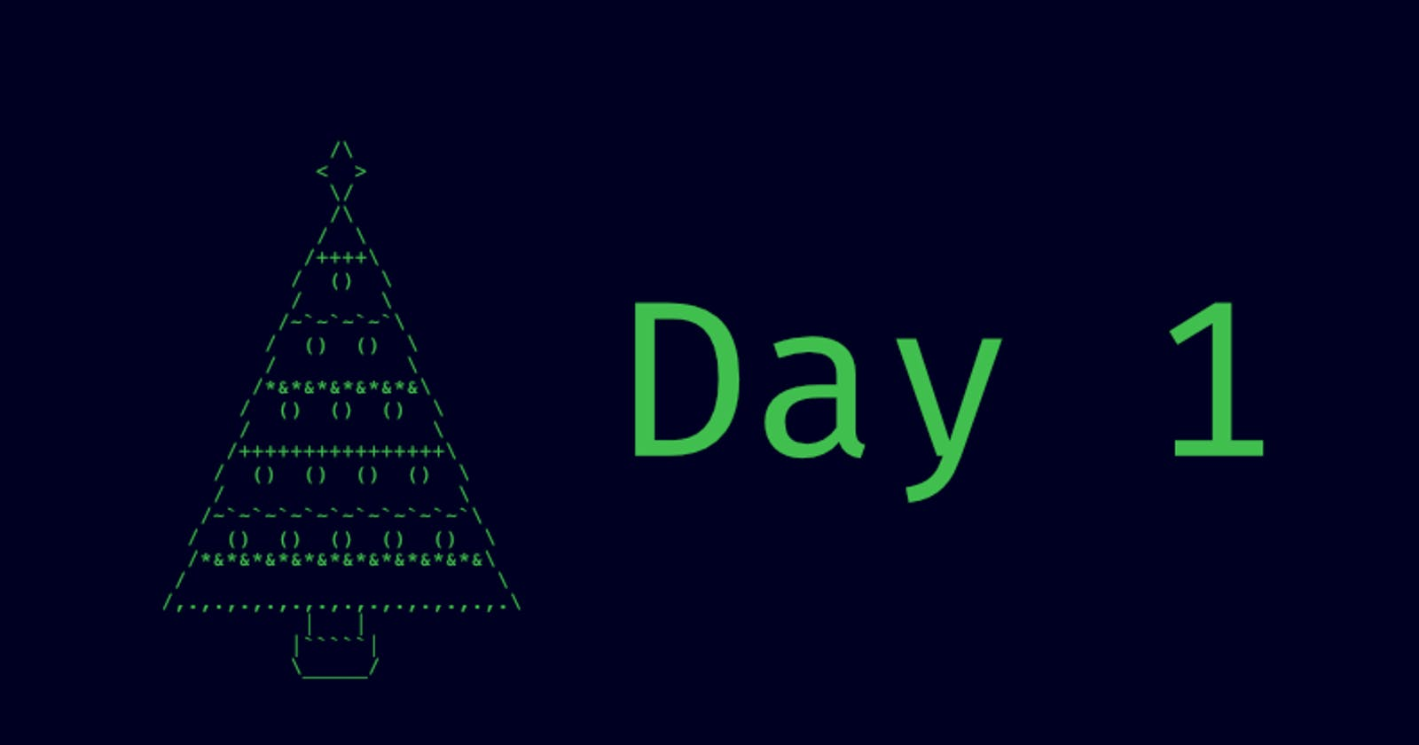 Advent of Code Day One