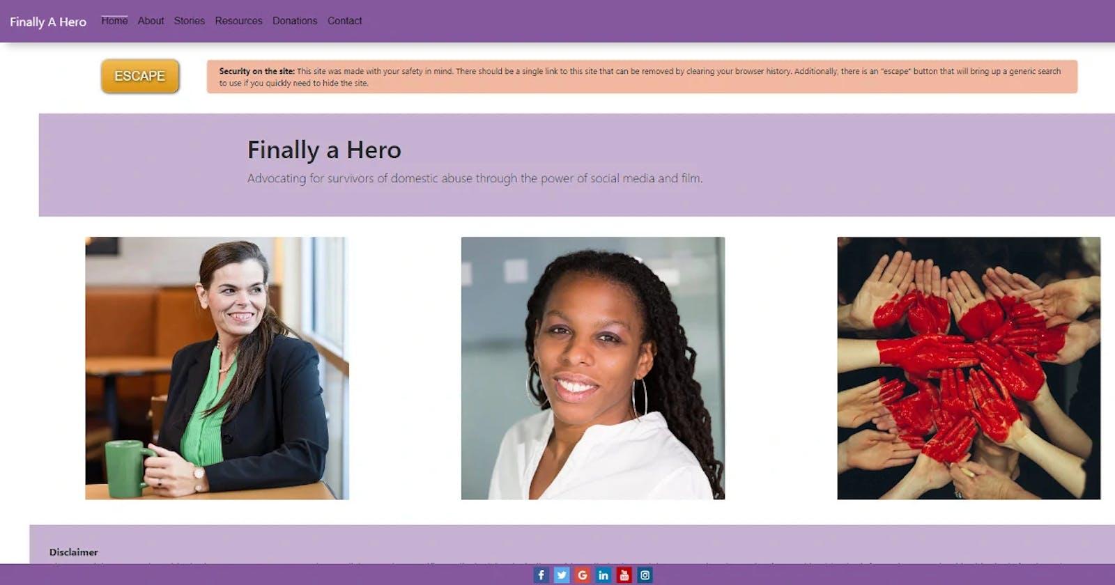 Hidden Navigation for Domestic Violence Sites