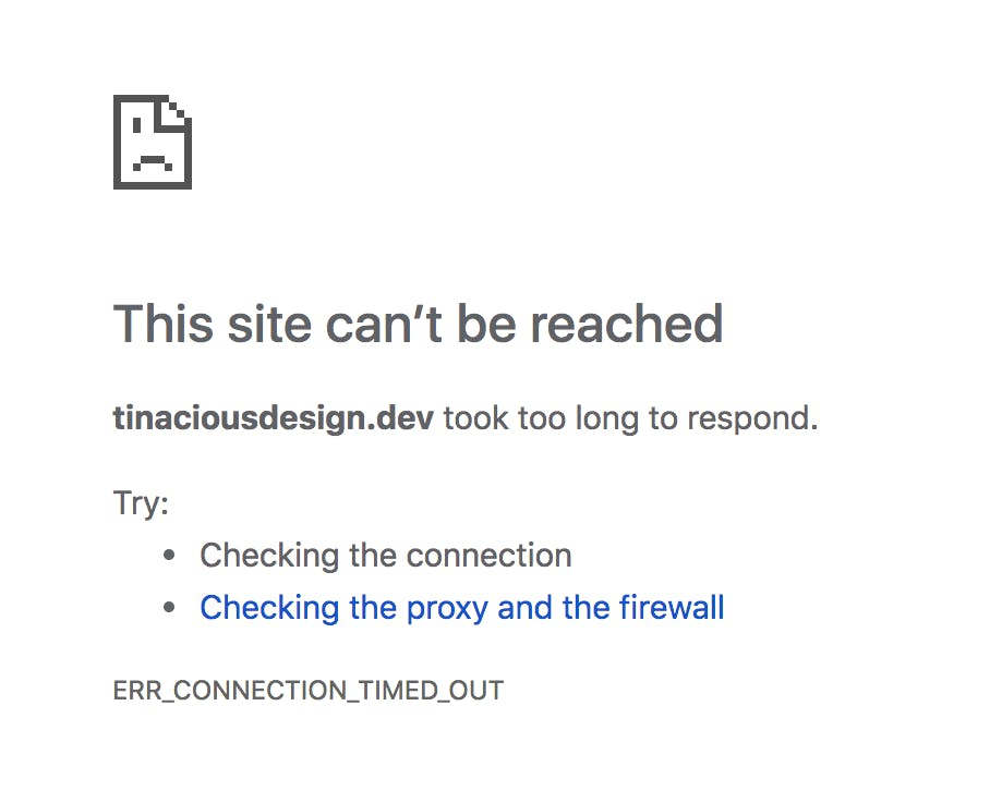 Chrome site cant be reached