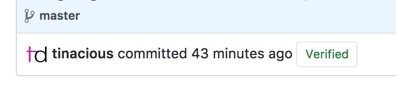 Verified Git commit