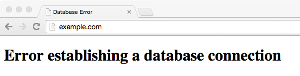 WordPress database error: Error establishing a database connection