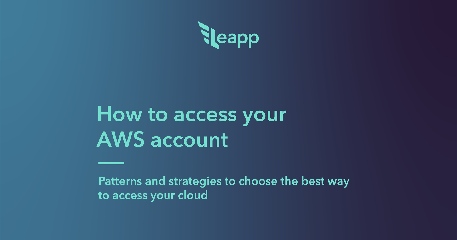 How to access your AWS account