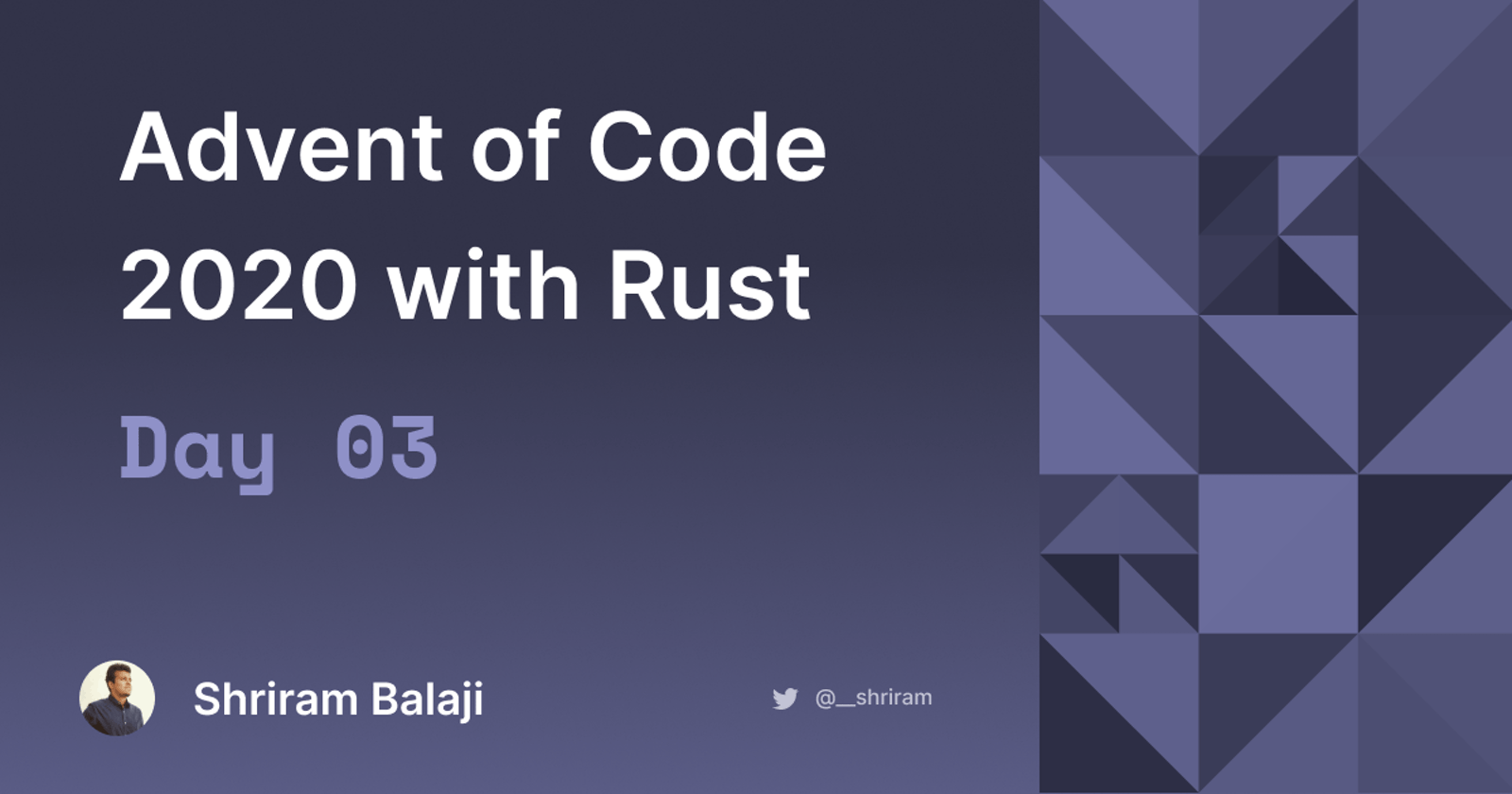 Rust Advent of Code 2020 - Day 03