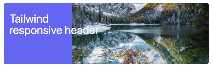 Tailwind CSS header plus text