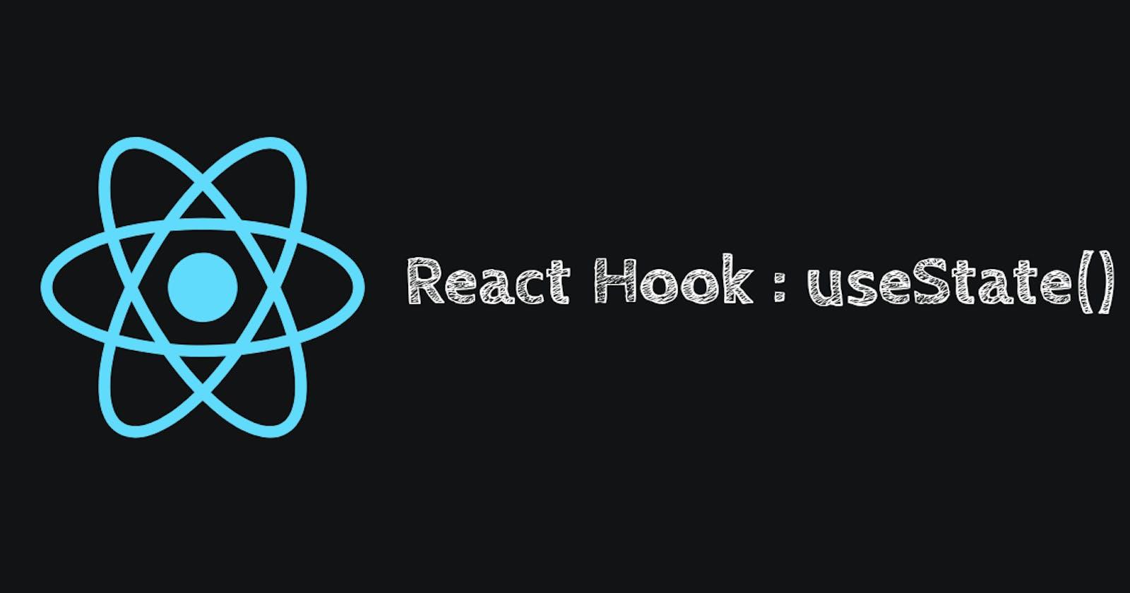 React Hook #1 useState()