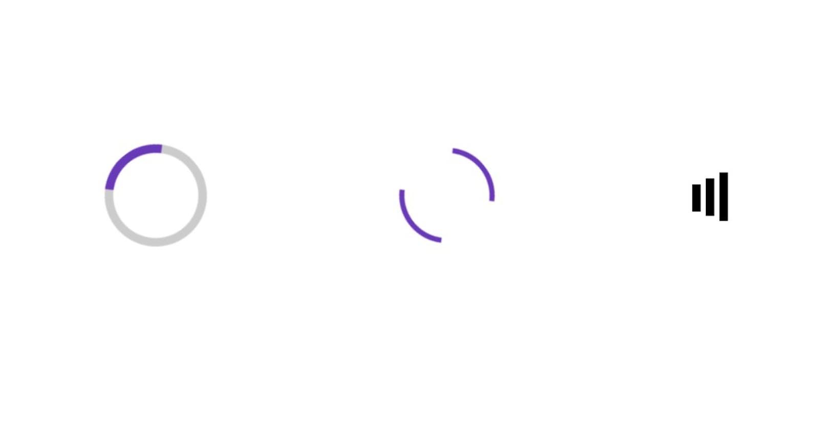 Loading animations in vanilla CSS