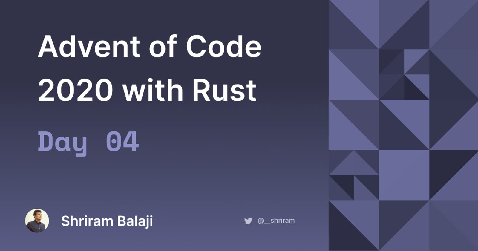 Rust Advent of Code 2020 - Day 04