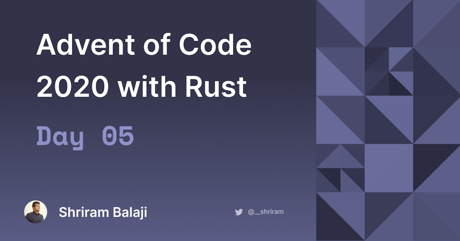 Rust Advent of Code 2020 - Day 05