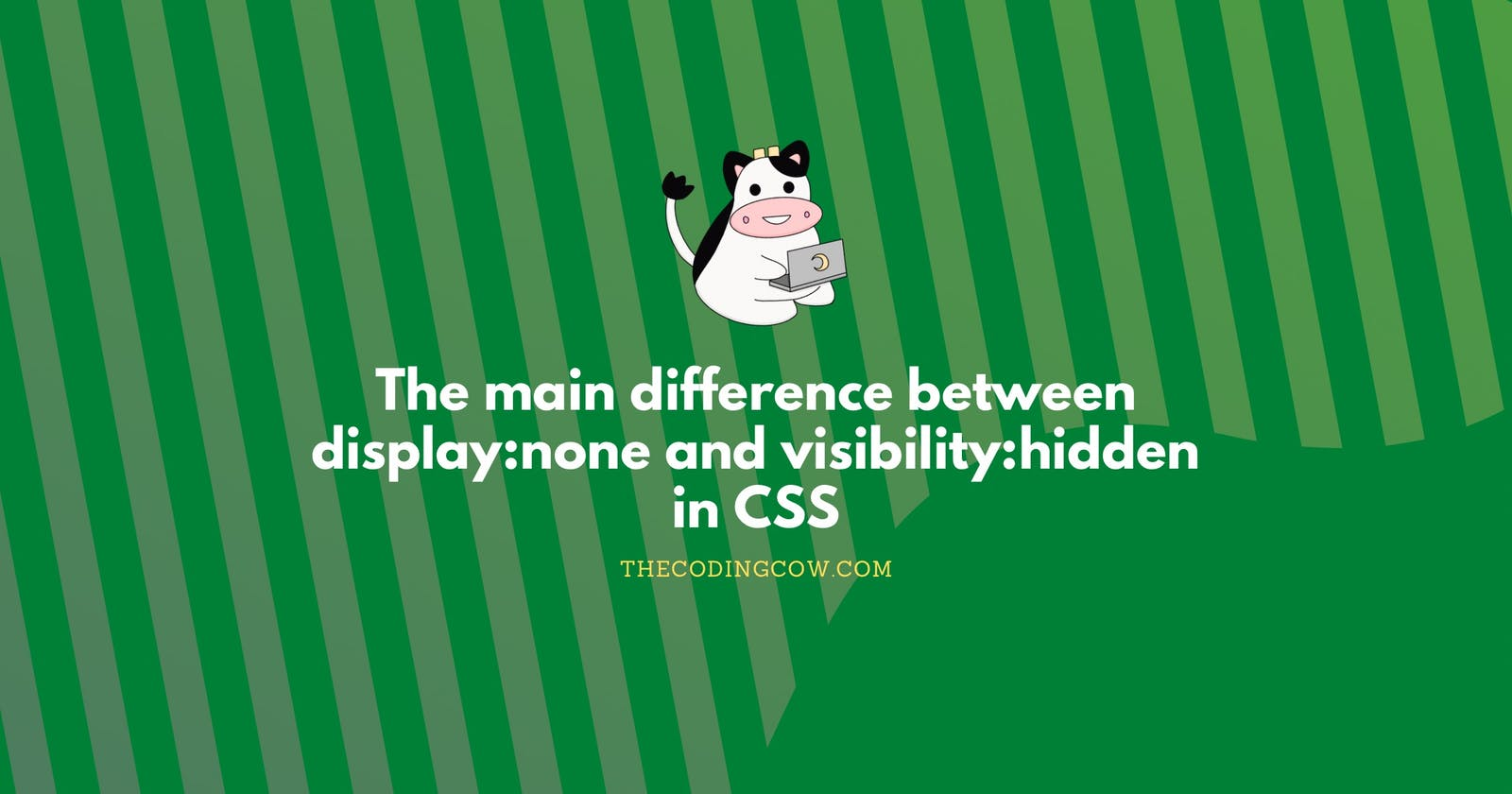 The main difference between display:none and visibility:hidden in CSS