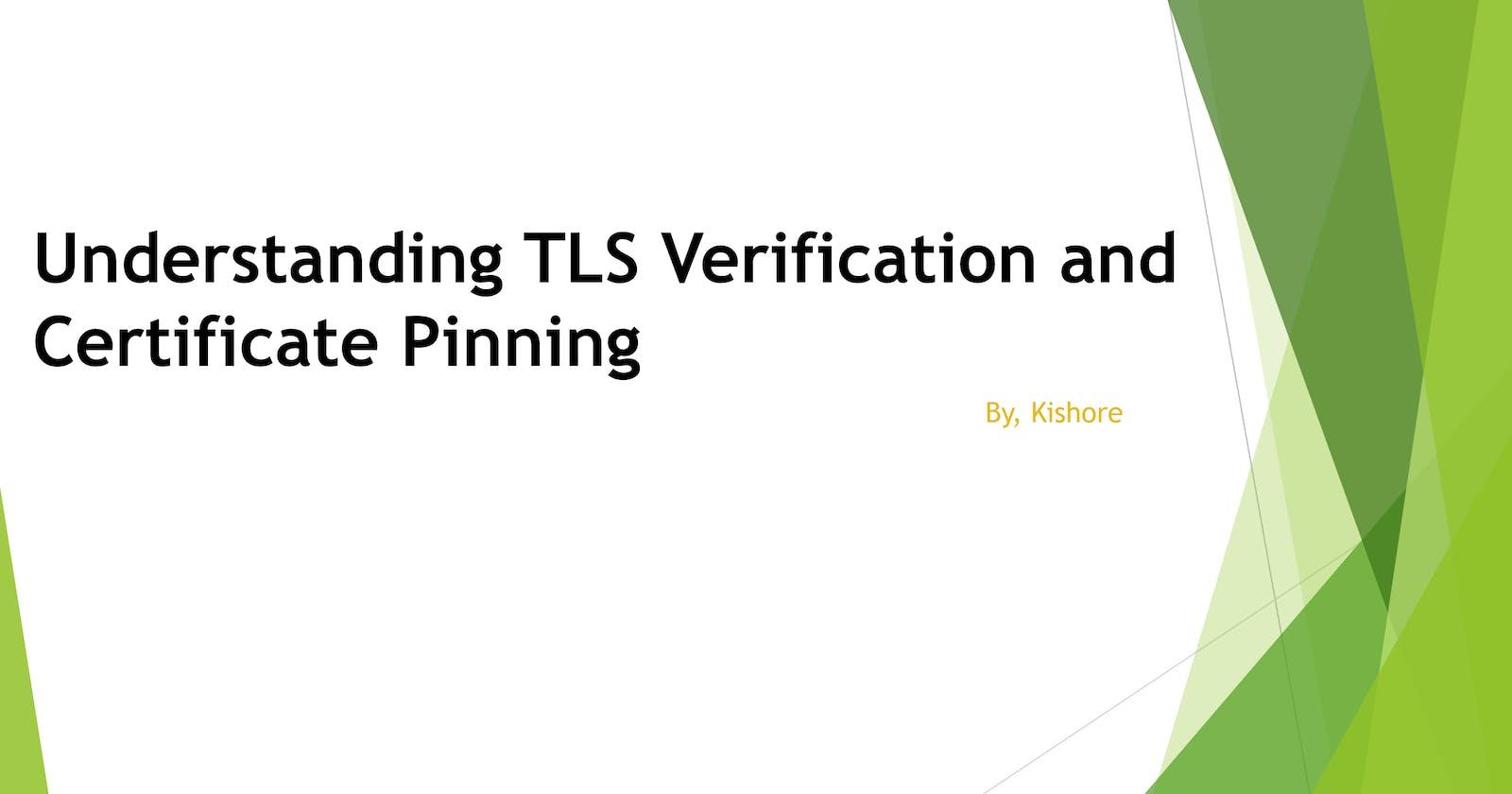 Understanding TLS Verification and Certificate Pinning
