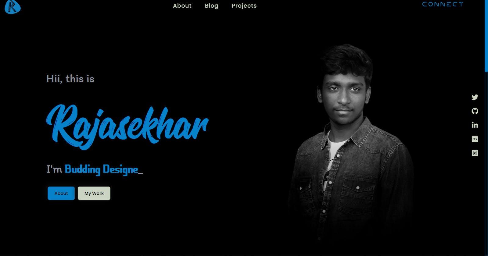 My portfolio design..!