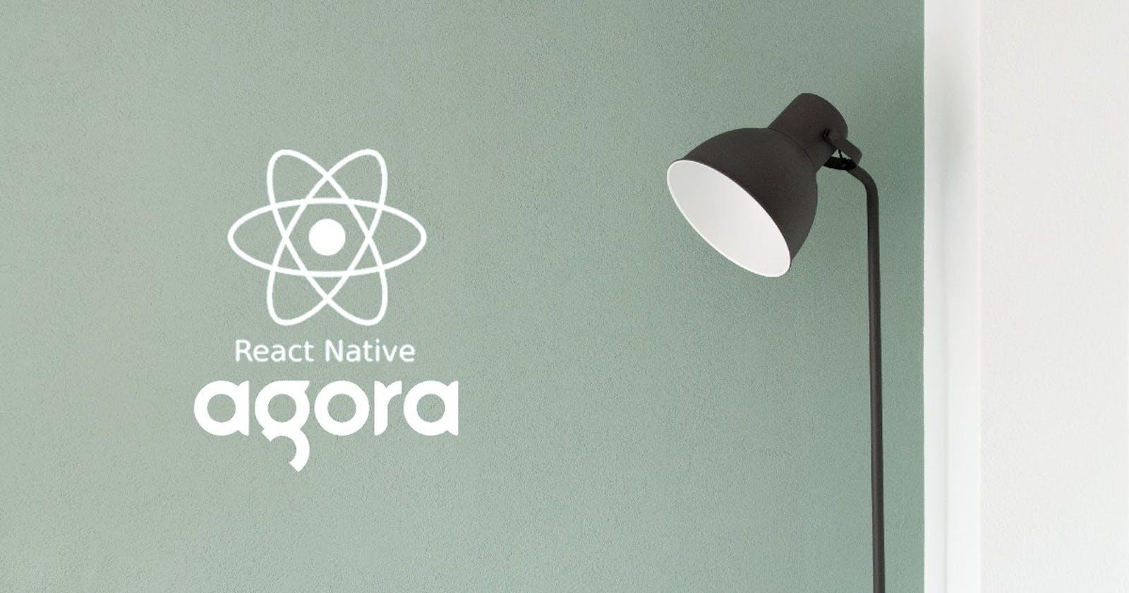 React Native Livestream Application using Agora