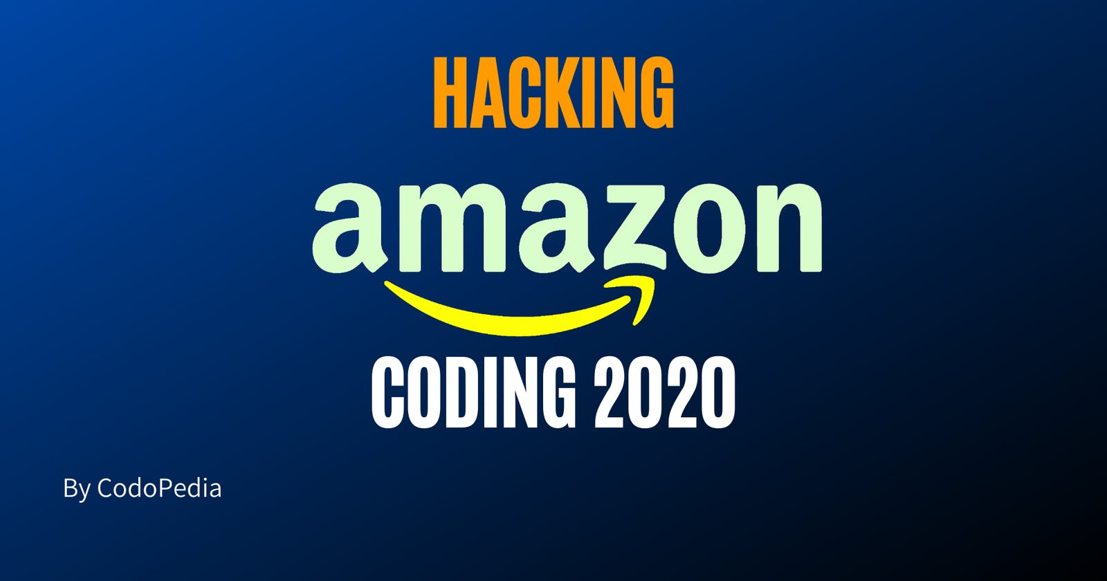 Hacking The Amazon Coding Questions 2020