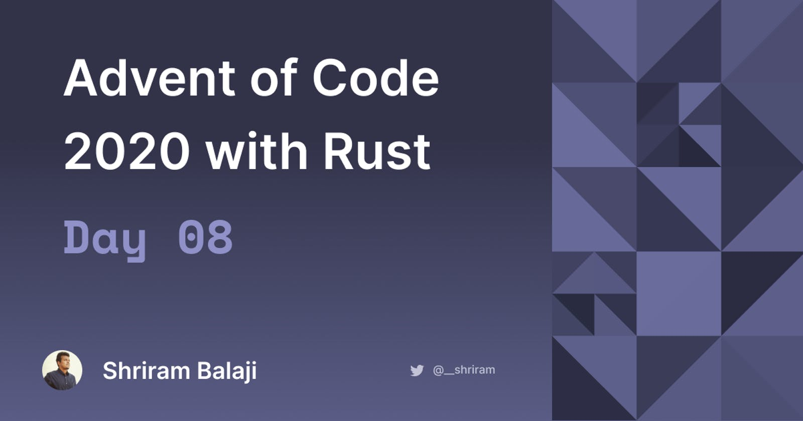 Rust Advent of Code 2020 - Day 08