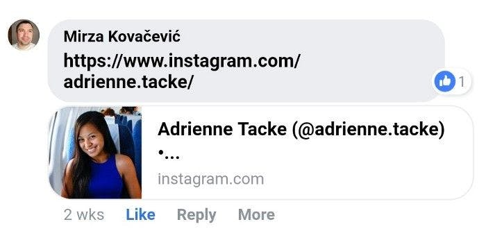 Nah, that can't be a real profile! 🙄 (FYI, my IG handle is now @adriennetacke)