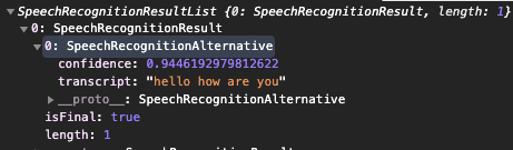 SpeechRecognitionResult
