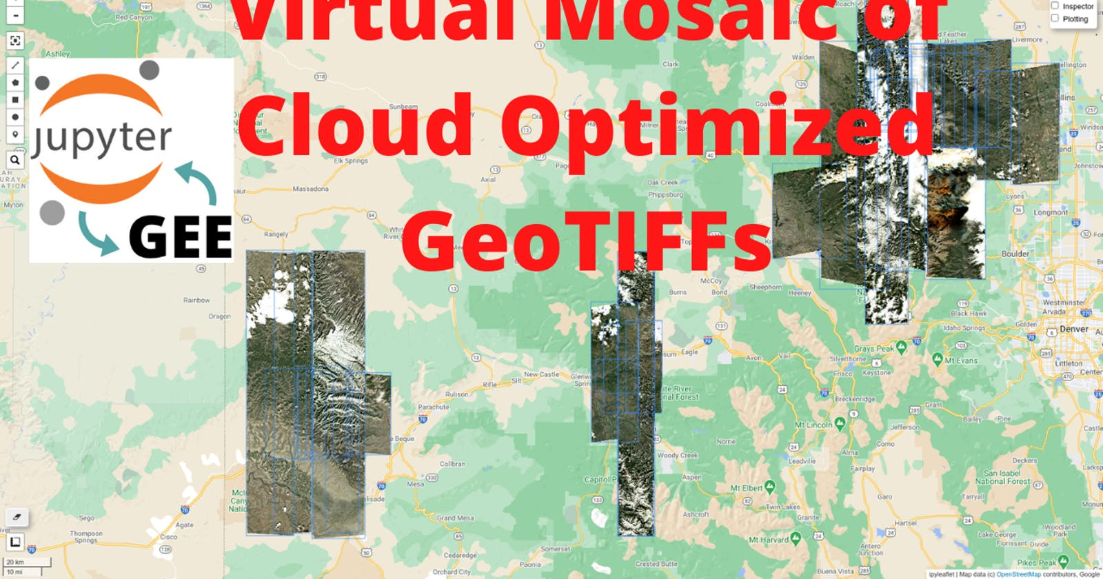 GEE Tutorial #45 - How to create a virtual mosaic of Cloud Optimized GeoTIFFs (COG)