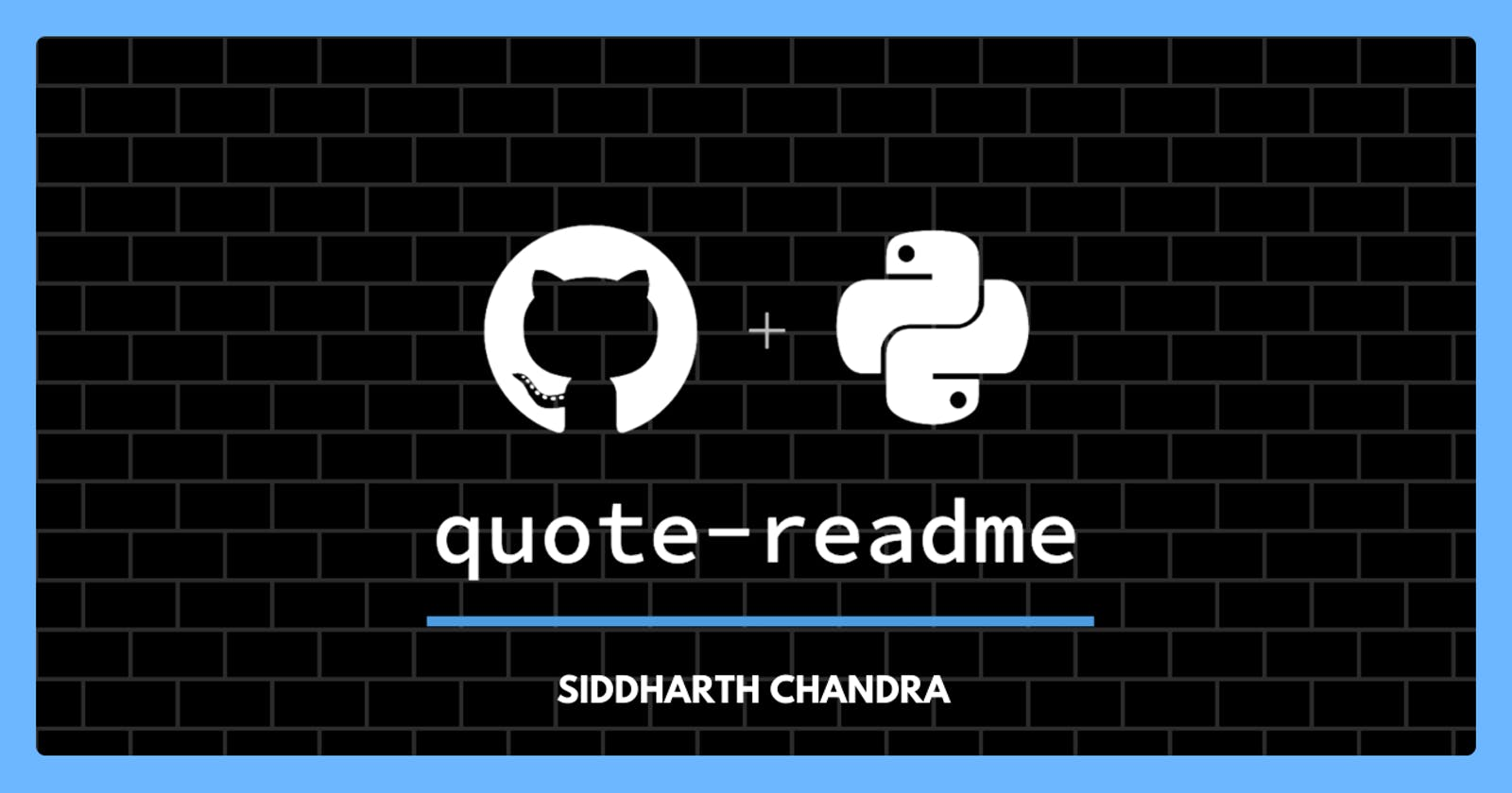 Quote - README, See wonderful quotes/fun-facts on your GitHub Profile README