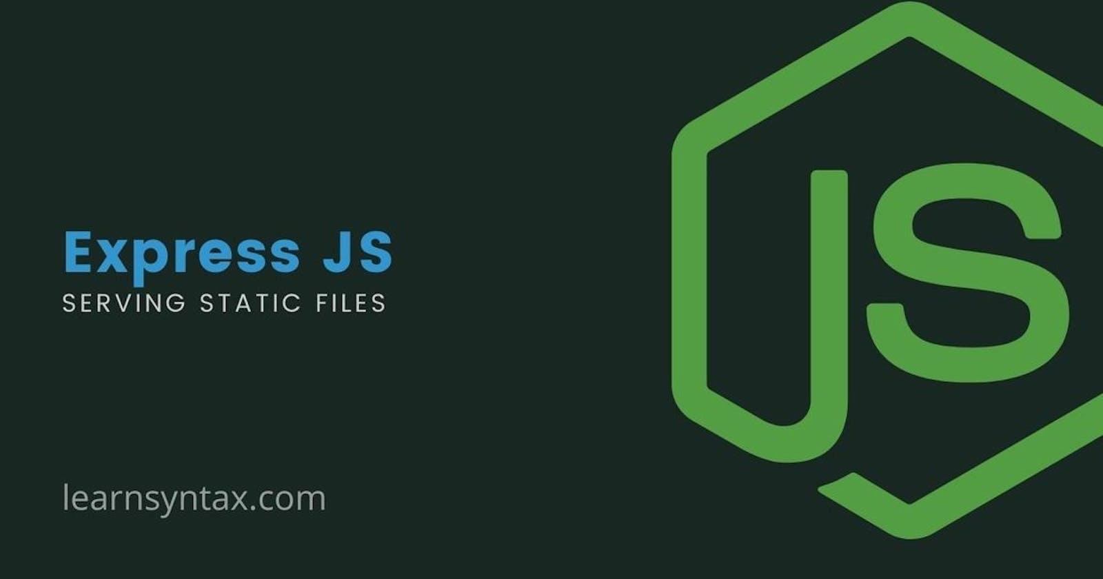 Serving static files in Node js