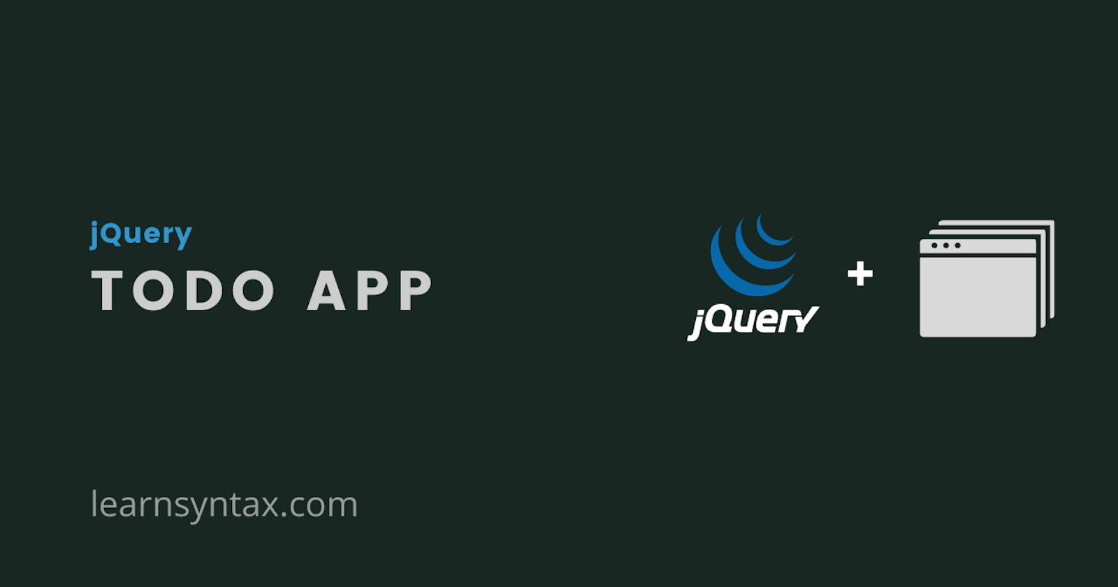 Create a Todo app with jQuery and localStorage