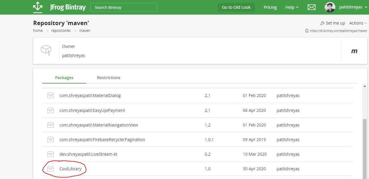Bintray Repositories