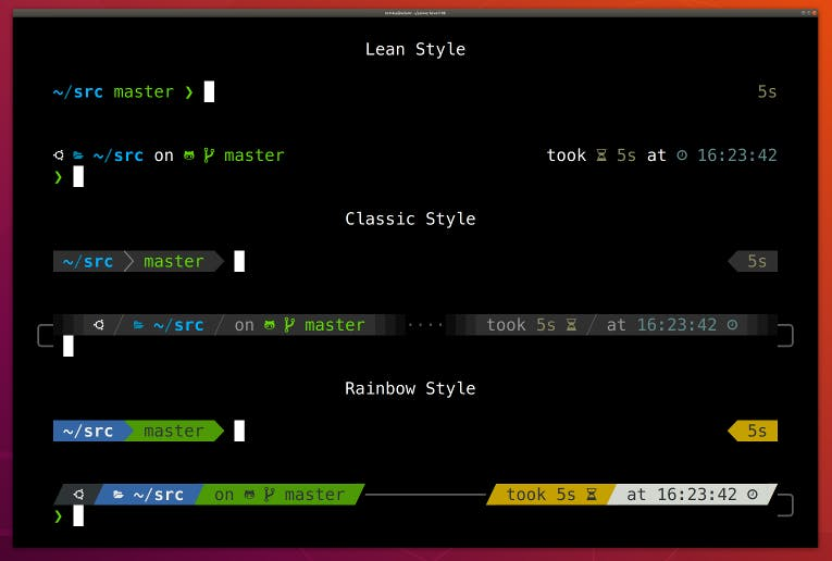 Powerlevel10k theme styles