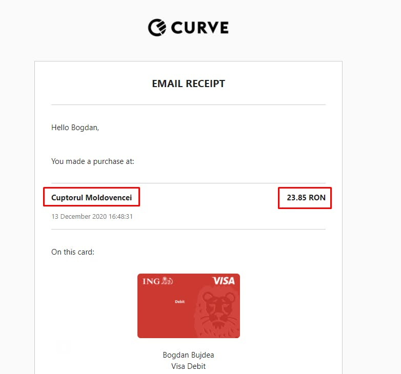Curve email