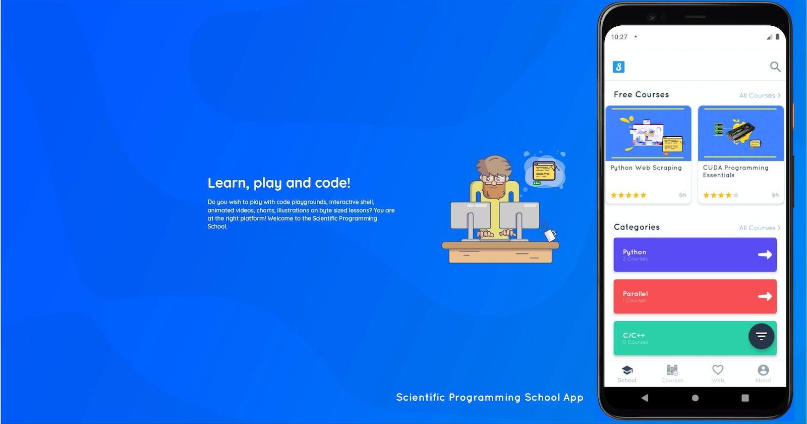 Scientific Programming School — Mobile App