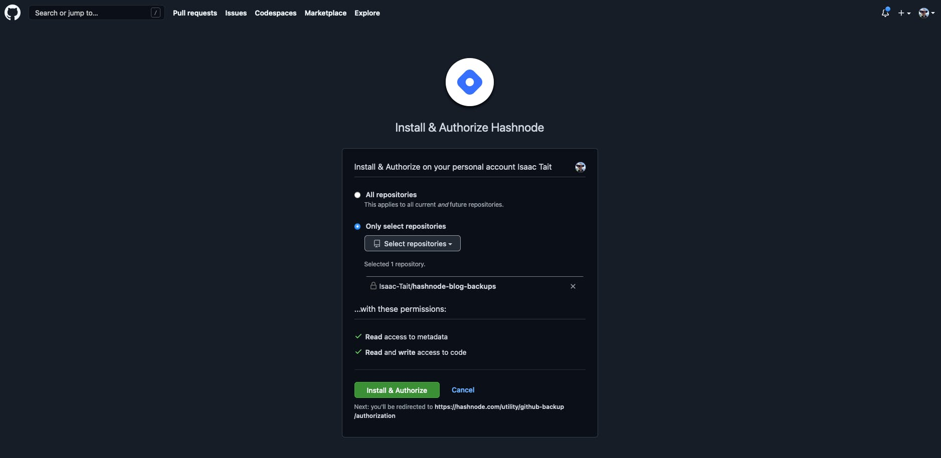 Install & authorize Hashnode 2.png