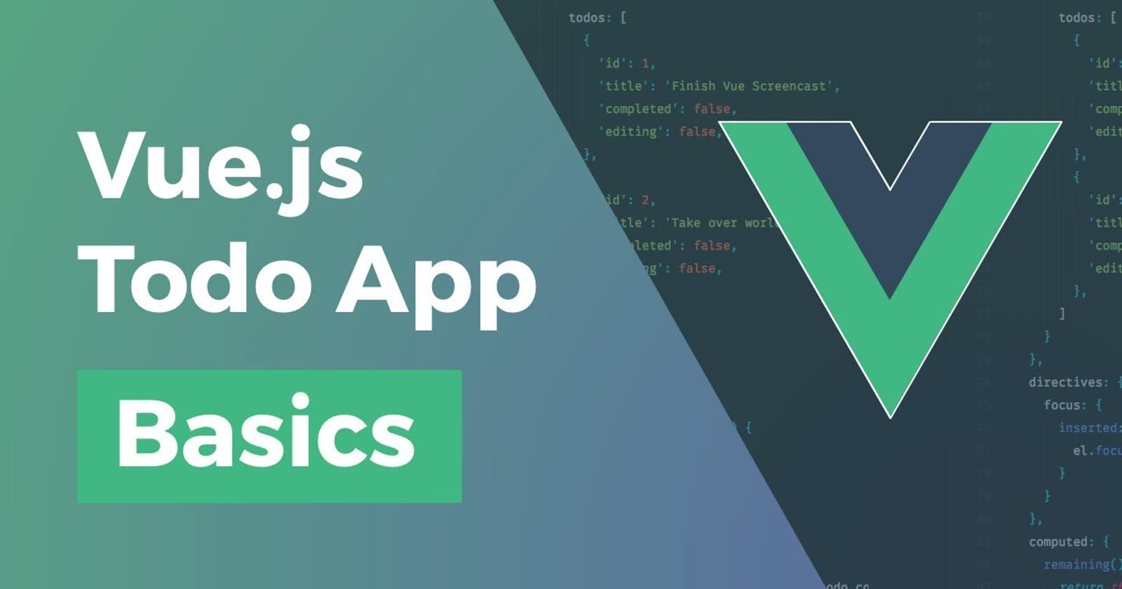 Making a simple TODO single page web app using VueJS.