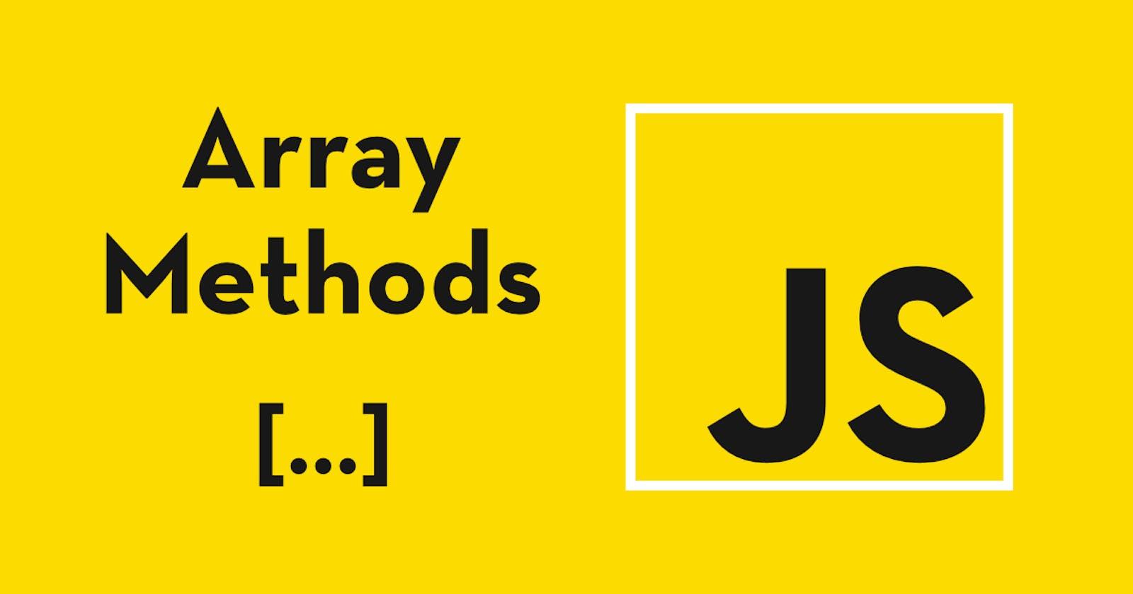 5 Must-Know JavaScript Array Methods