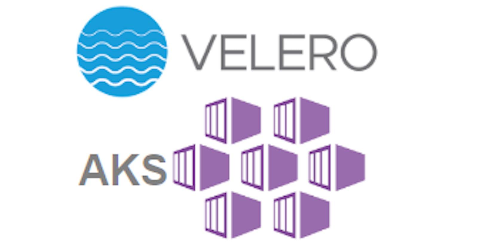 Deploy Azure AKS cluster and Backup it with Velero