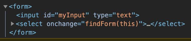 Vanilla JavaScript get form