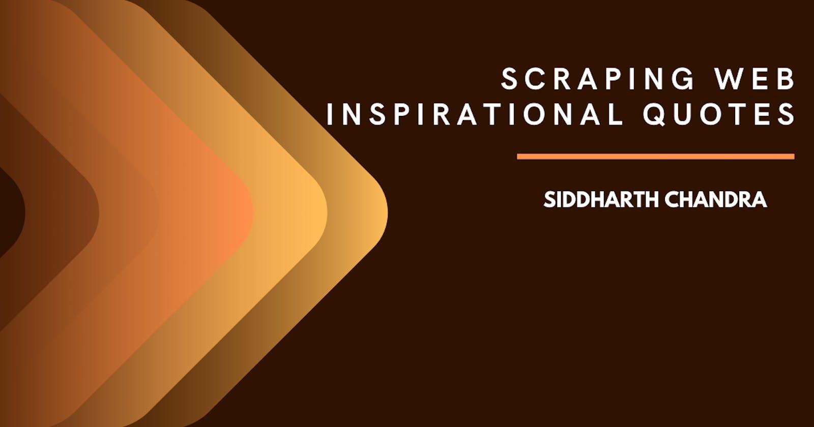 Scraping Web - Inspiring Quotes