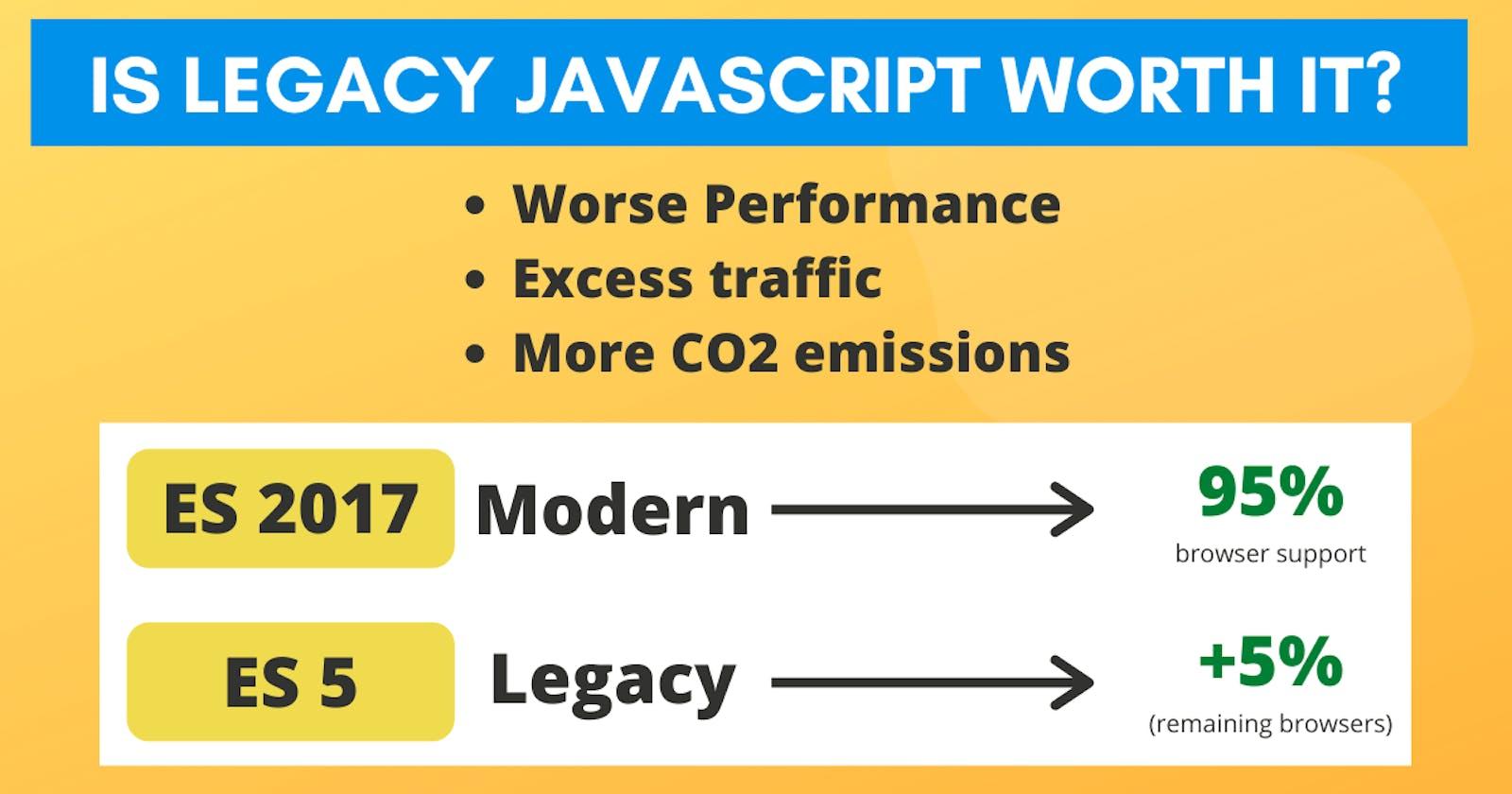 Is Legacy JavaScript worth it?