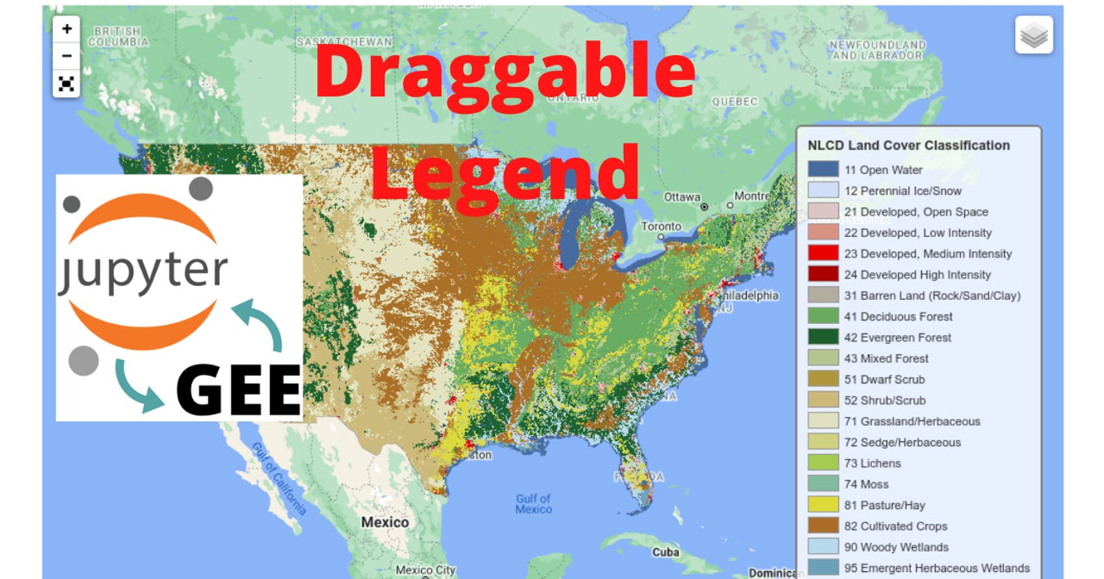 GEE Tutorial #48 - How to add a draggable legend to folium maps