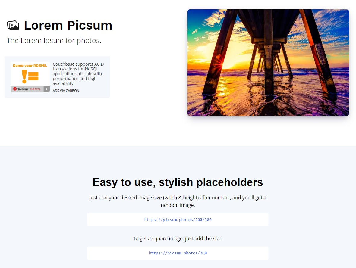 Picsum screenshot