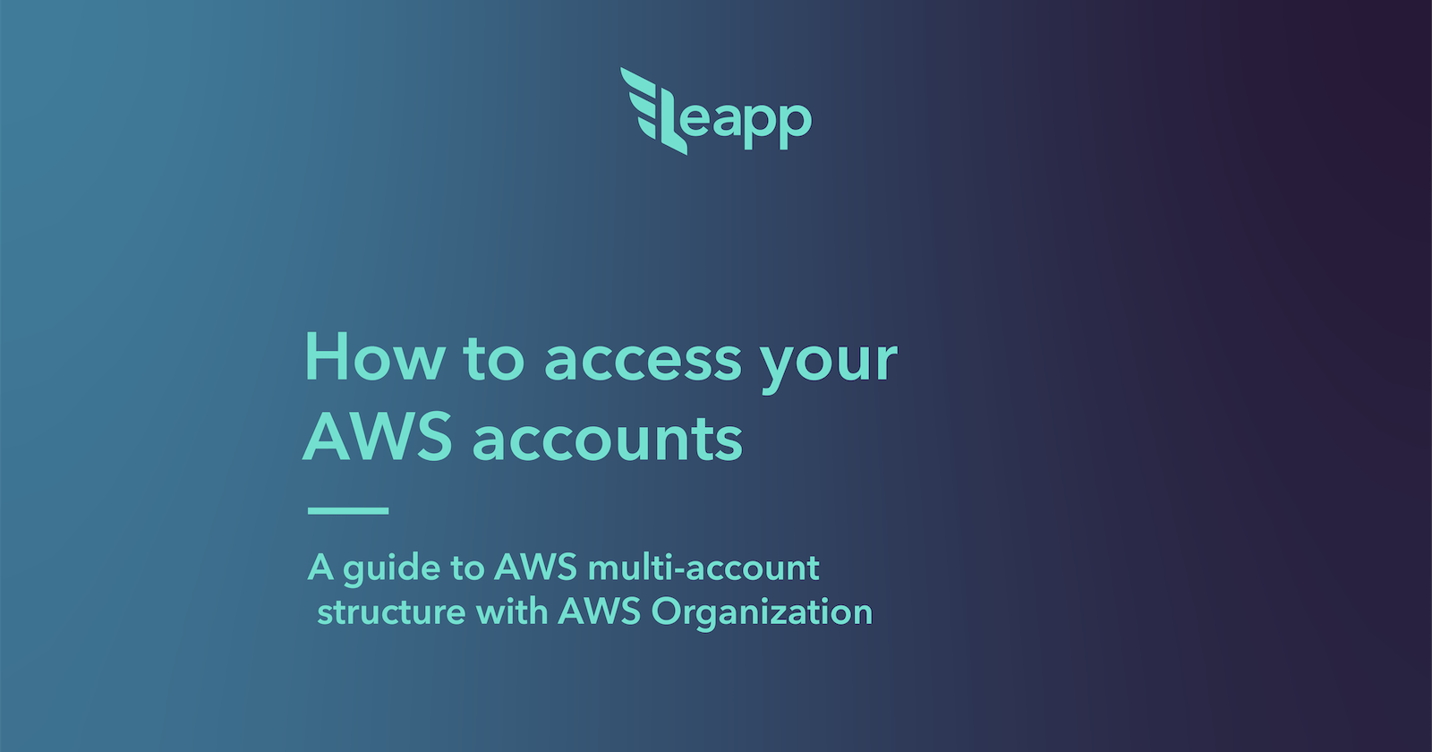 AWS multi-account structure with AWS Organization