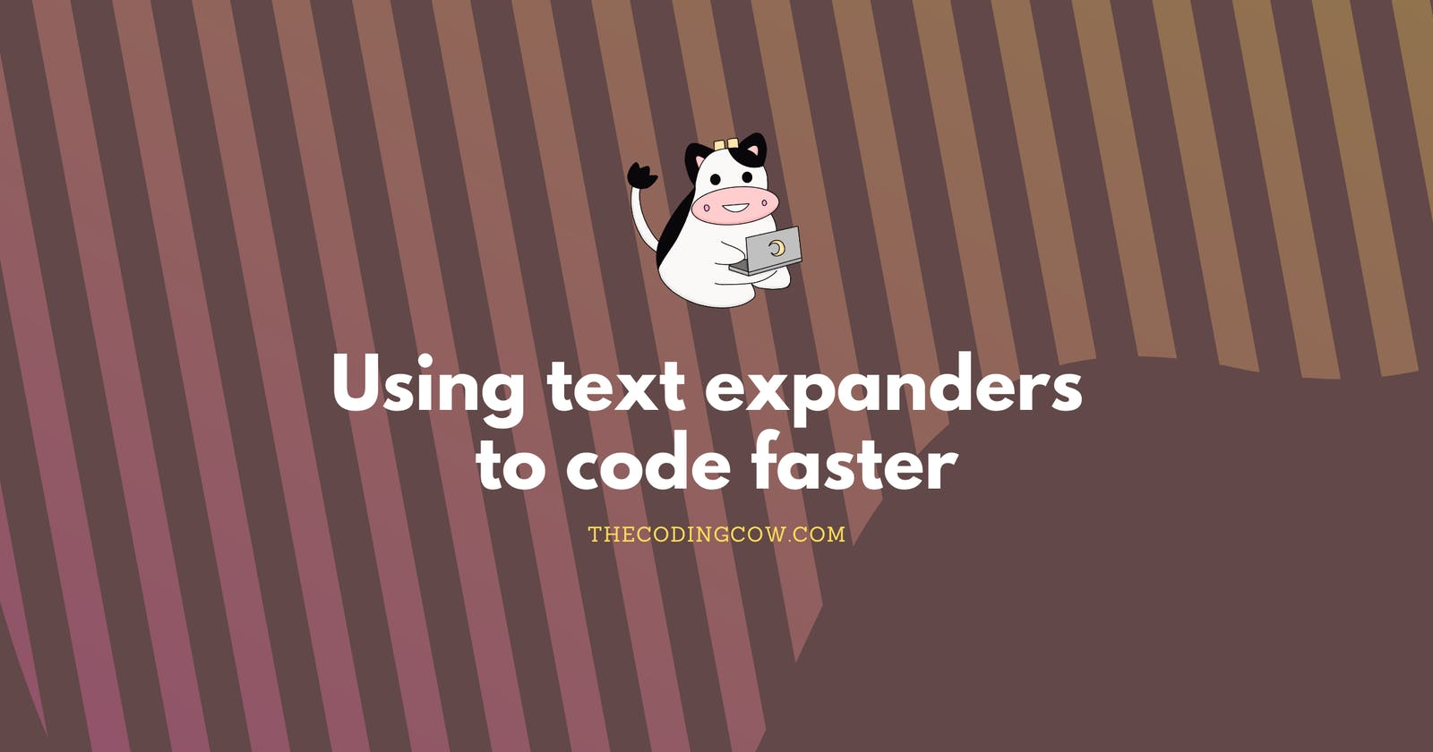 Using text expanders to code faster