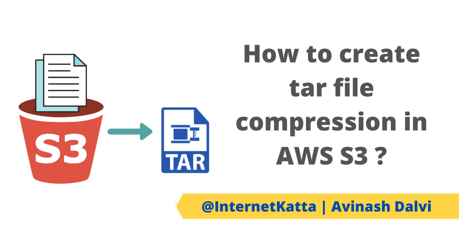 How to create tar file compression in AWS S3 ?