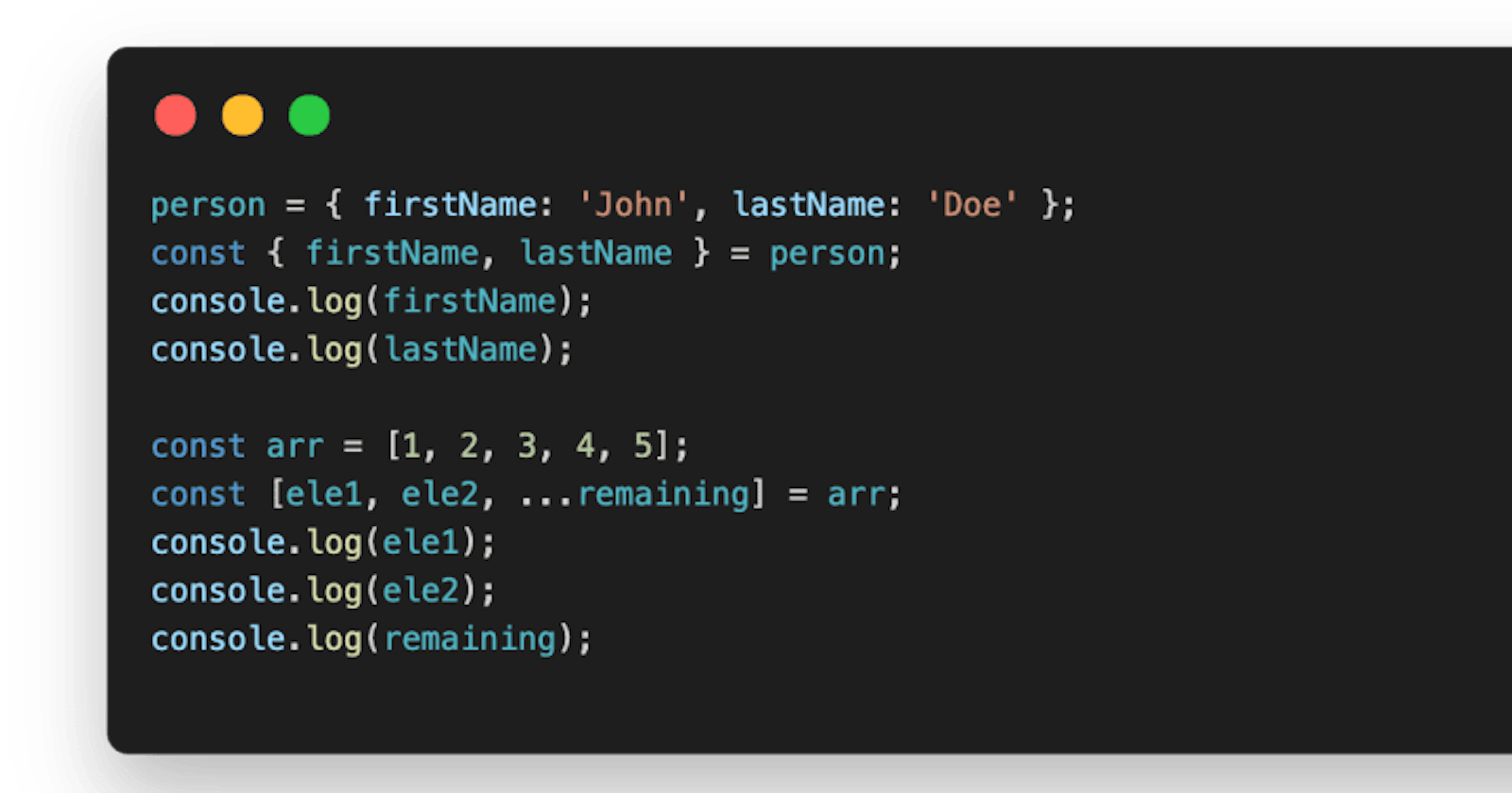 Javascript Destructuring - Extraction (The Fun Way🧑🏽💻)