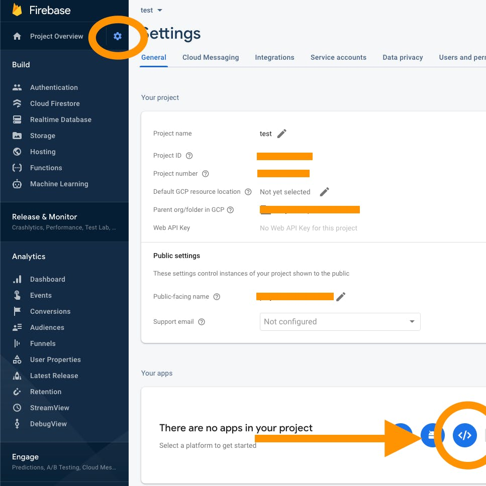 Firebase new web app
