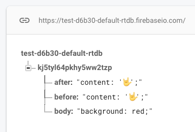Firebase database write