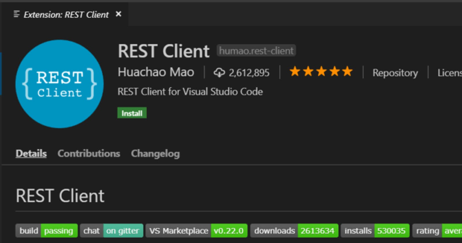 How to make REST calls from inside VS Code?