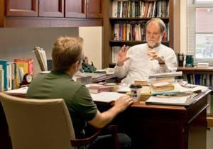 Student B meeting Professor A